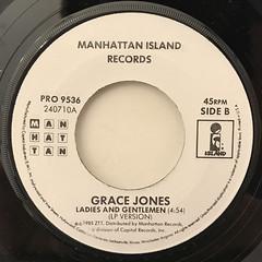 GRACE JONES:SLAVE TO THE RHYTHM(LABEL SIDE-B)