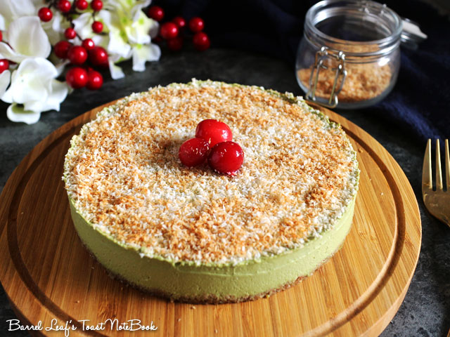 聖誕純素抹茶白巧慕斯蛋糕 xmas-matcha-white-chocolate-mousse-cake (2)