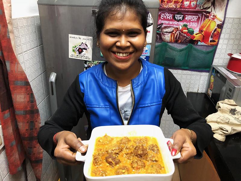 Julia Child in Delhi – Sangeeta Makes Her Vegan Malai Kofta, Uday Park