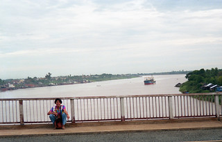 The view from the broken bridge in downtown Phnom Penh.