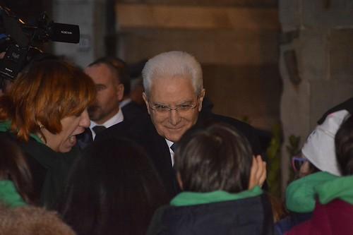 Sergio Mattarella in visita a Pistoia