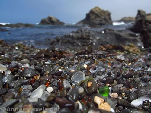 Sea Glass and Sea Stacks at Glass Beach, California