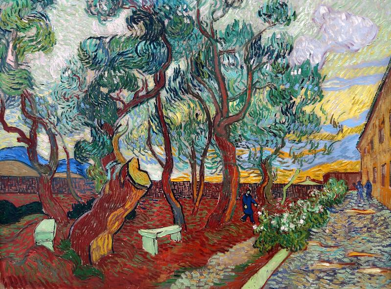2017-11-23 11-27 Ruhrgebiet 067 Essen, Museum Folkwang, Vincent van Gogh - Der Garten des Hospitals von Sant Rémy