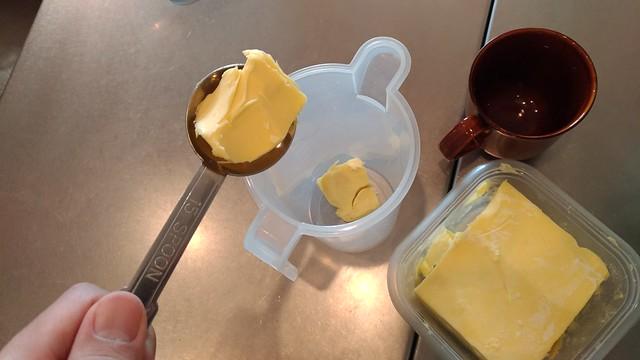 バター大さじ2杯