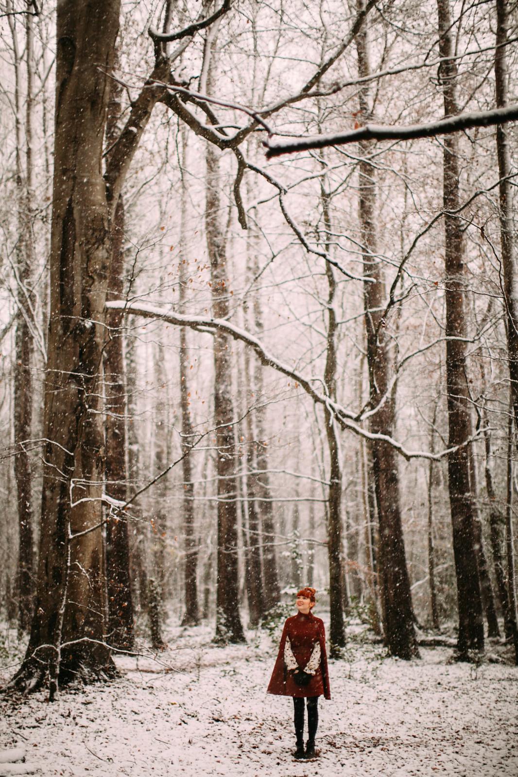 aclotheshorse snow day cape let it snow