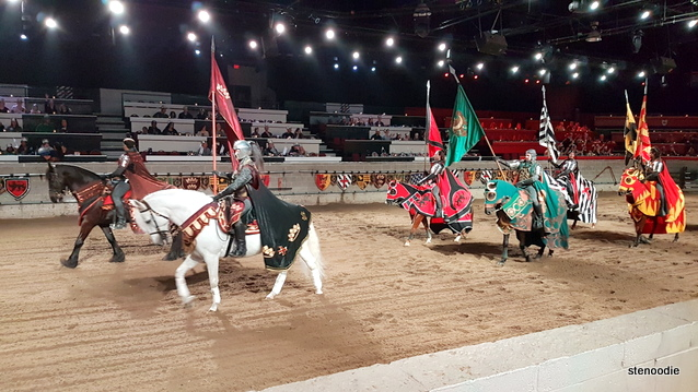 Medieval Times knights on horses