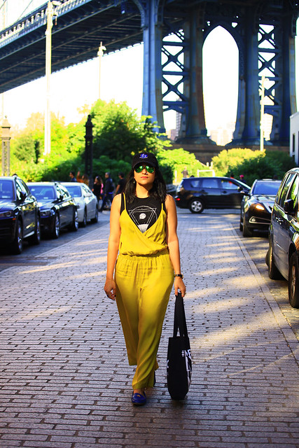 Mustard Jumpsuit Dumbo Brooklyn Tanvii.com