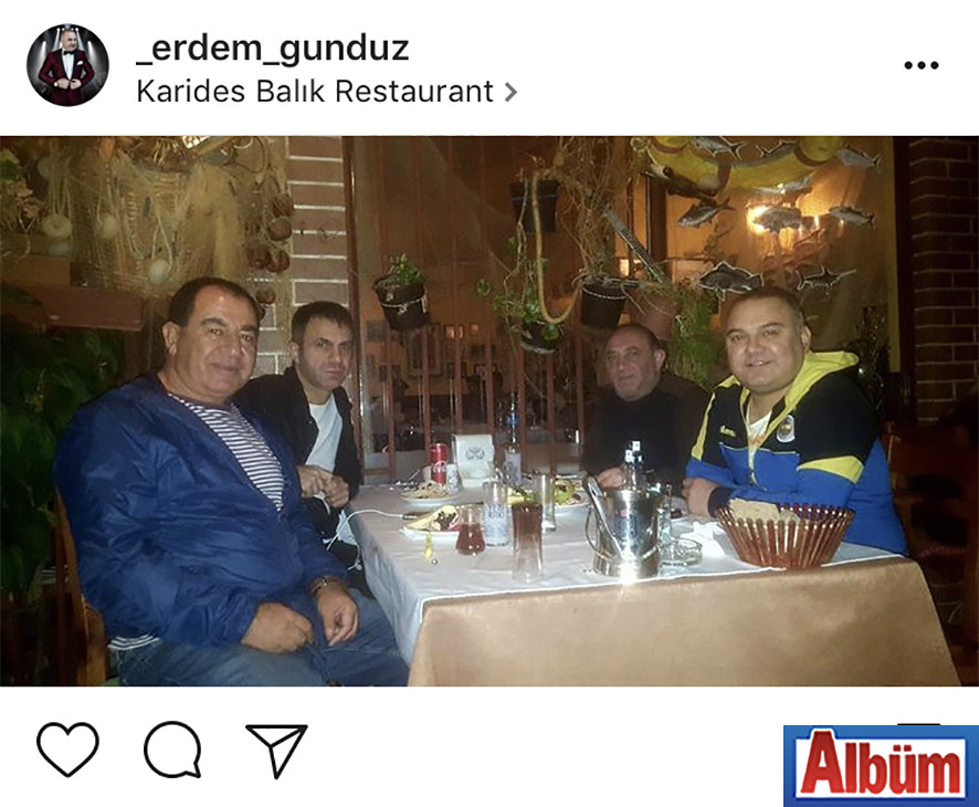 Alanya'nın sevilen sanatçılarından Erdem Gündüz, Karides Balık Restoran'da Recai Kandar ve Necat İncesu'yla keyifli bir akşam geçirdi.