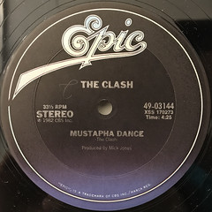 THE CLASH:ROCK THE CASBAH(LABEL SIDE-B)