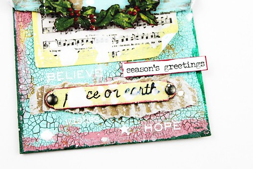 Meihsia Liu Simply Paper Crafts Mixed Media Tag Christmas Torn Paper Simon Says Stamp Tim Holtz 4