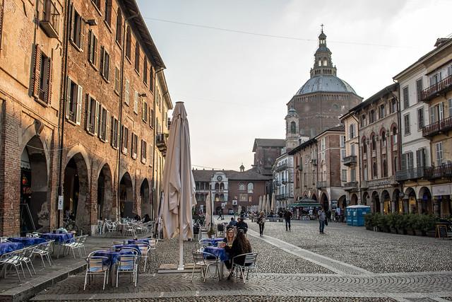 Victory square (piazza della Vittoria) in Pavia - Lombardy - Italy