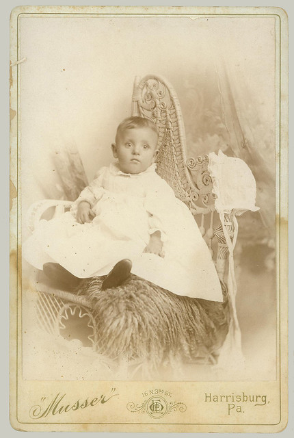 Cabinet Card baby in smock