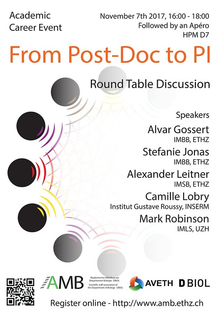 Roundtable: PostDoc to PI