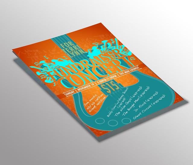 Rebecca Pons, BECCA PONS STUDIO, Print and Digital Design, Fundraiser Concert, Fundraiser for Terry Lynn, Fundraiser, Concert, Branding artwork, Illustration, Digital Marketing Content, Artist