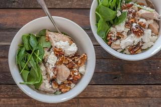 Roast Chicken, Walnut & Feta Bowls_-2