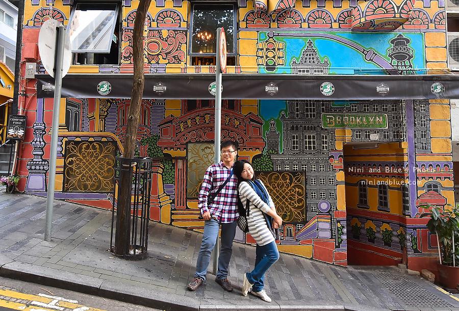 香港景點 舊城中環彩繪牆11