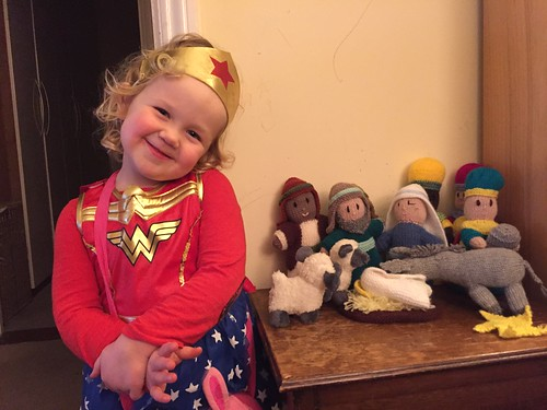 Knitted Nativity.... and Wonder Woman