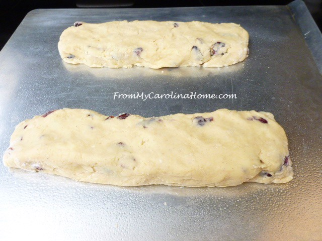 Cranberry Eggnog Biscotti at From My Carolina Home