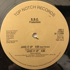 S.D.C. PRODUCTIONS:JUICE IT UP(LABEL SIDE-A)