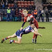 Mathew Protheroe is brought down by Doncaster's Thomas James-3395