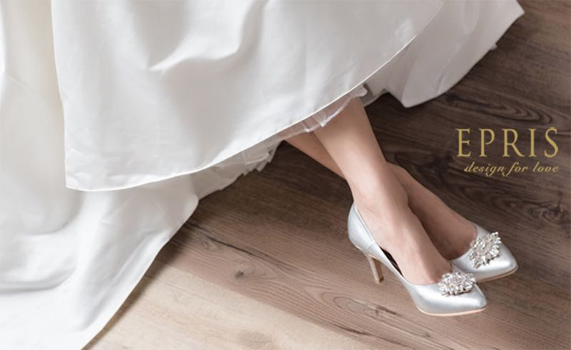 銀色婚鞋resach,resarch時尚手作婚紗鞋,queena wedding,momentanee價格,lovebabytwins艾佩絲EPRIS婚鞋