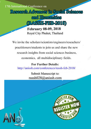 17th International Conference on Research Advances in Social Sciences and Humanities (RASSH-FEB-2018)