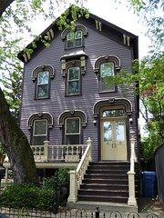 Chicago, Old Town Triangle, Victorian Painted Lady