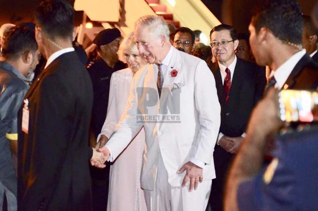 061117 - Arrival of Their Royal Highness The Prince of Walesand Duchess of Cornwall at Penang International Airport (6 November 2017)