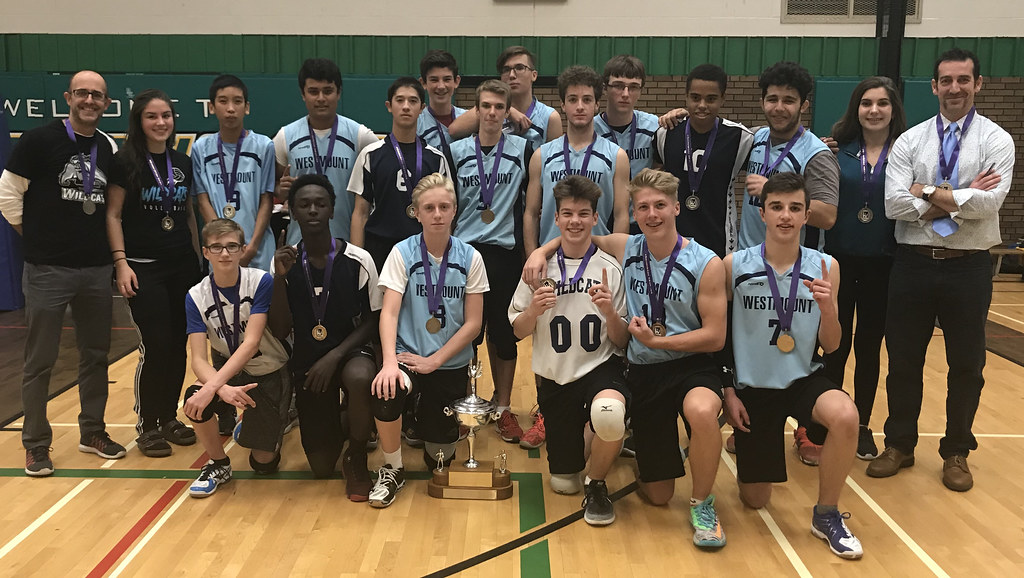 2017-18 Junior Boys Volleyball Champions: Westmount Wildcats