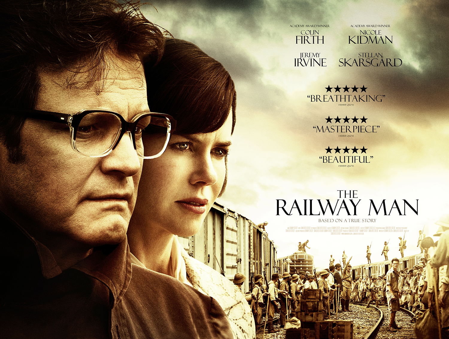 Colin Firth, Nicole Kidman In «The Railway Man»