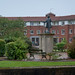 TIMS Mill Tour 2017 UK - Jessy Shirley's Bone & Flint Mill - flint kiln - Statue of James Brindley-9377