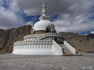 Shanti Estupa en Leh, Ladakh