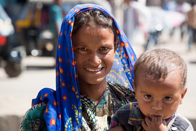 Mother & child in Bhuj, India.