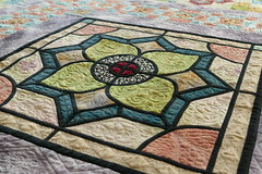 Stained glass medallion quilt