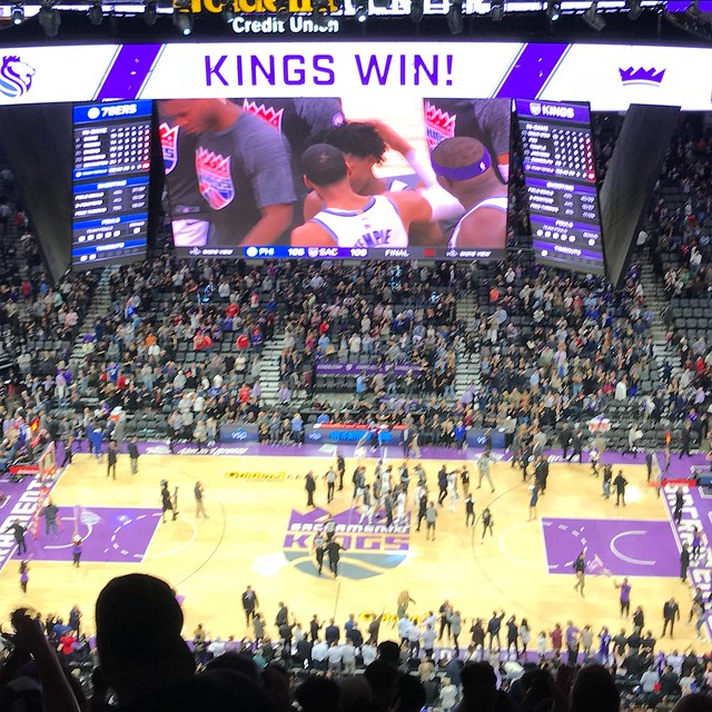 2017 Kings versus 76ers