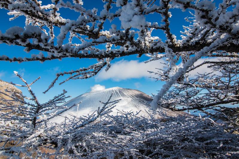 冬の黒斑山