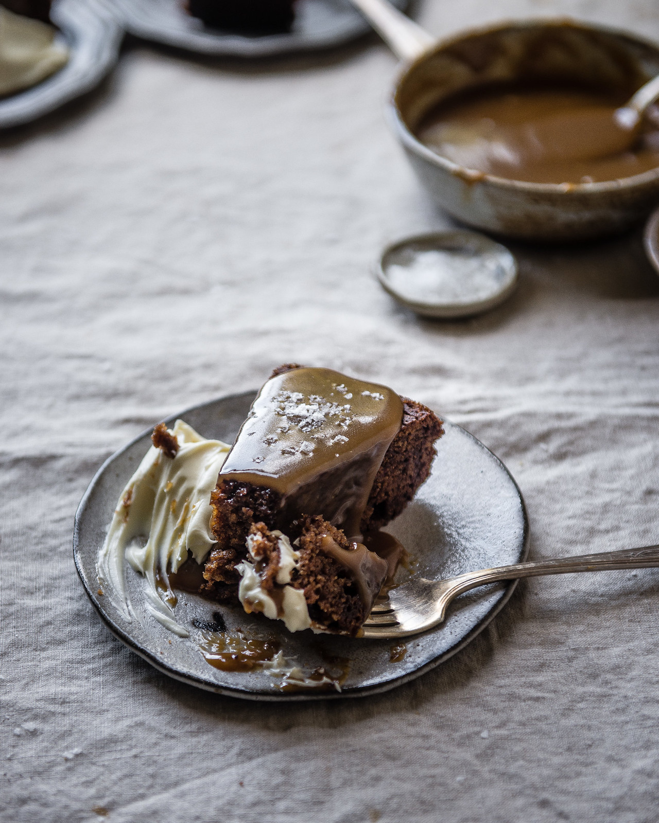 sticky toffee pudding with mascarpone toffee sauce