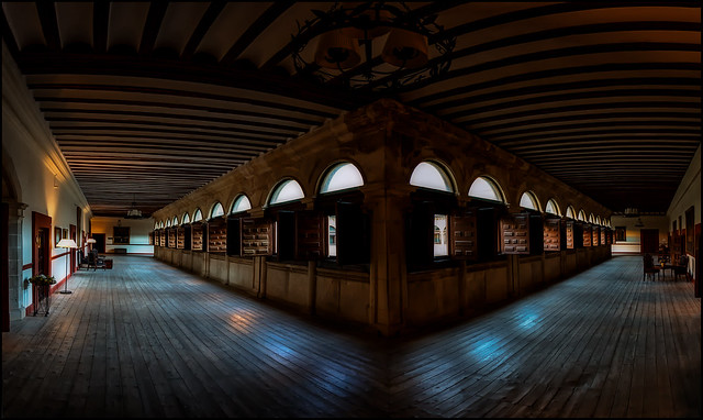 LIGHTS IN THE CLOISTER.