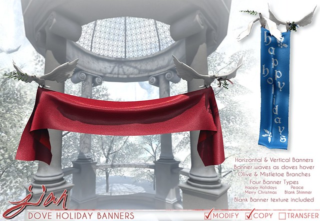 JIAN Dove Holiday Banners @ Tannenbaum