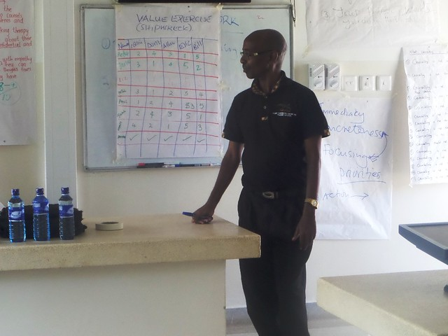 Philip leading the counselling training