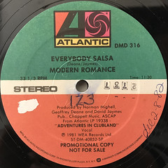 MODERN ROMANCE:EVERYBODY SALSA(LABEL SIDE-A)