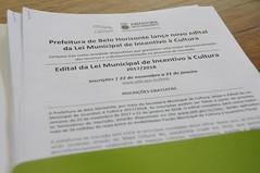 16/11/2017. Lançamento da Lei Municipal de incentivo a Cultura de Belo Horizonte com Secretário Juca Ferreira. Fotos: Rodrigo Clemente/PBH
