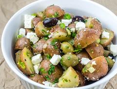 No Mayo Potato Salad with Feta and Olives
