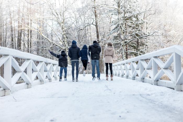 strömforsin ruukin joulu 2017 ruukki ruotsinpyhtää silta lumi