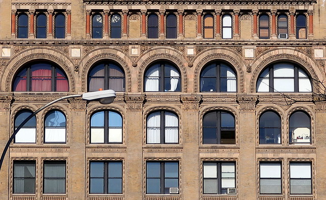 Now-and-then windows, Flatiron District, Manhattan