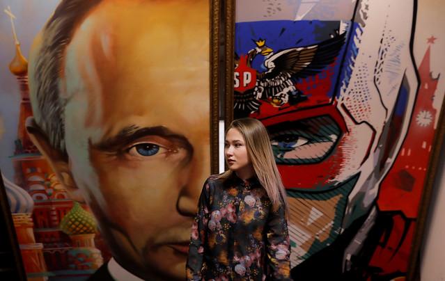 Putin art show Moscow