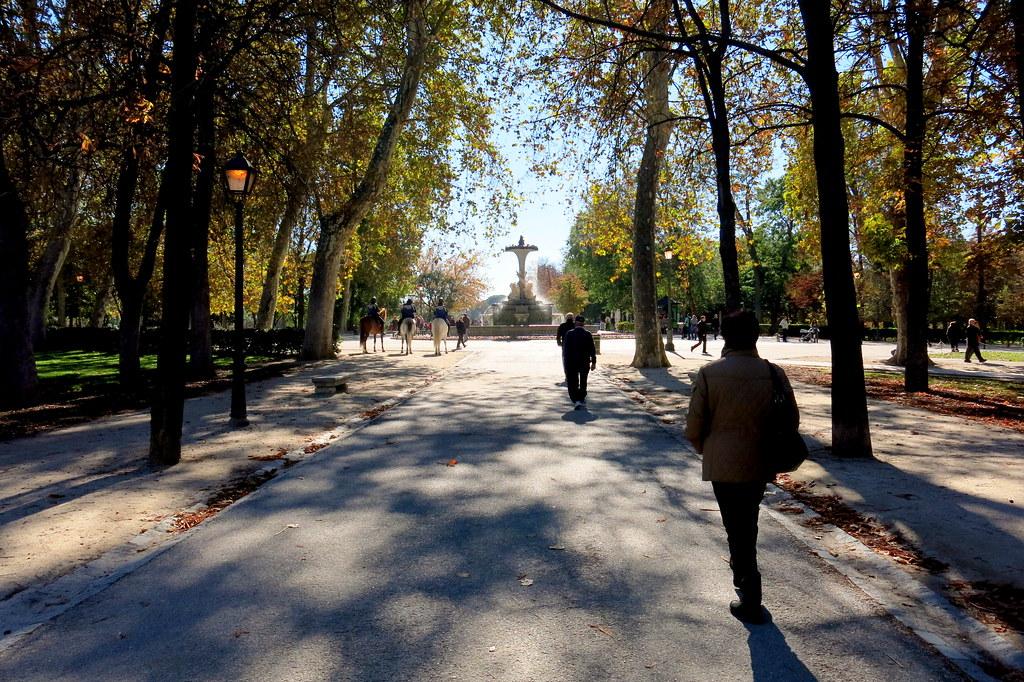 En El Retiro de Madrid en otoño del 17