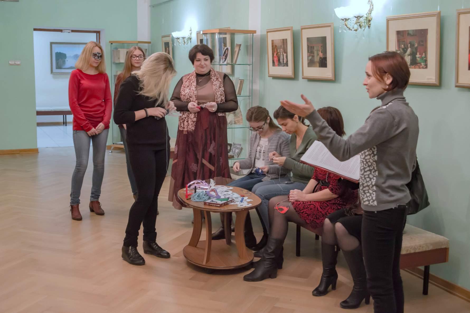 Всероссийская акция «Ночь искусств» в «Тарханах». Мастер-класс по изготовлению маскарадных масок