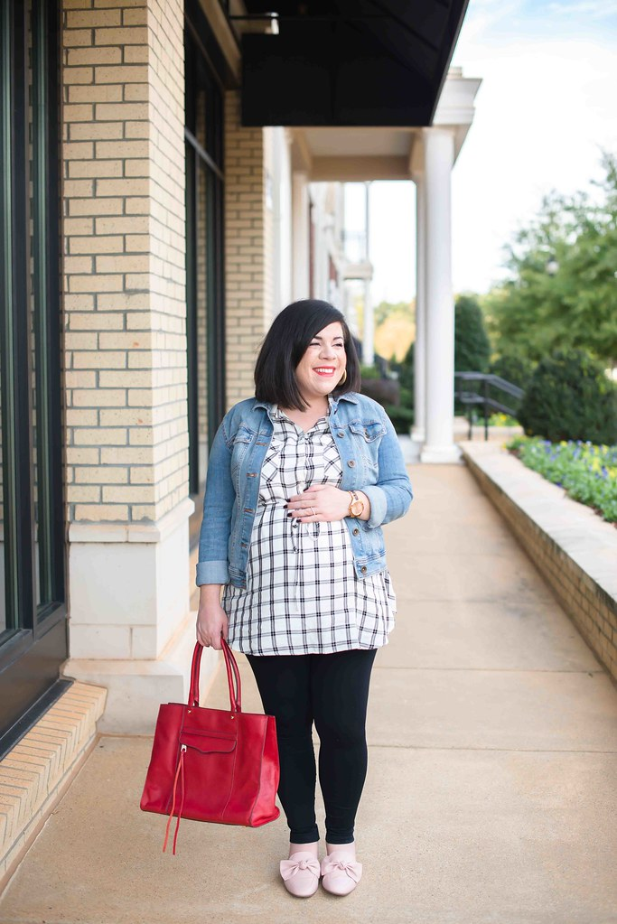 Plaid Maternity Top-@headtotoechic-Head to Toe Chic
