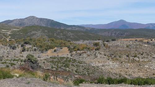 TORTUERO (Guadalajara). Spain. 2017. Sierra Norte. Vista desde el camino hacia el vértice geodésico.